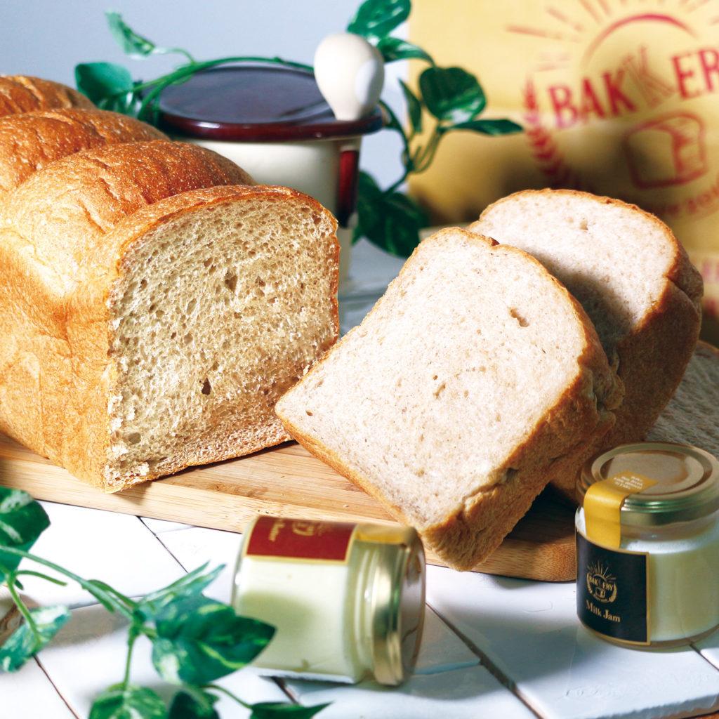 ゆめちから全粒粉100%生食パン <br>[小麦・乳]