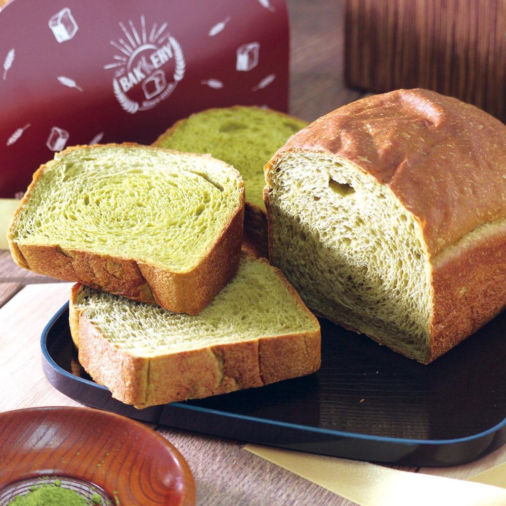 抹茶生食パン<br> [小麦・乳]