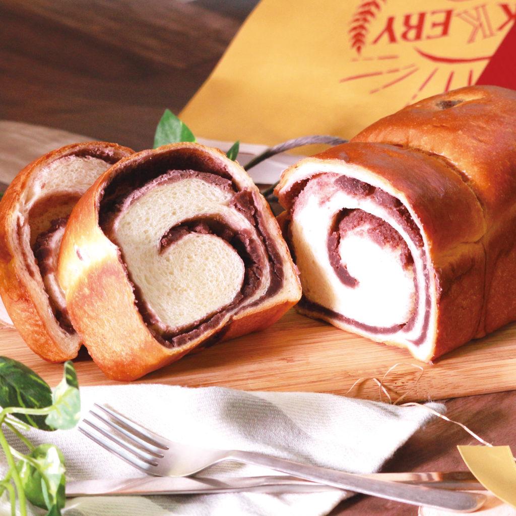 あんこロール生食パン<br>[小麦・乳]